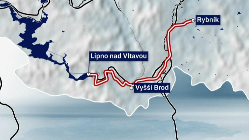 Trať z Rybníka do Lipna nad Vltavou