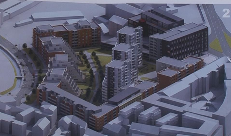 Vizualizace projektu v areálu Vlněny