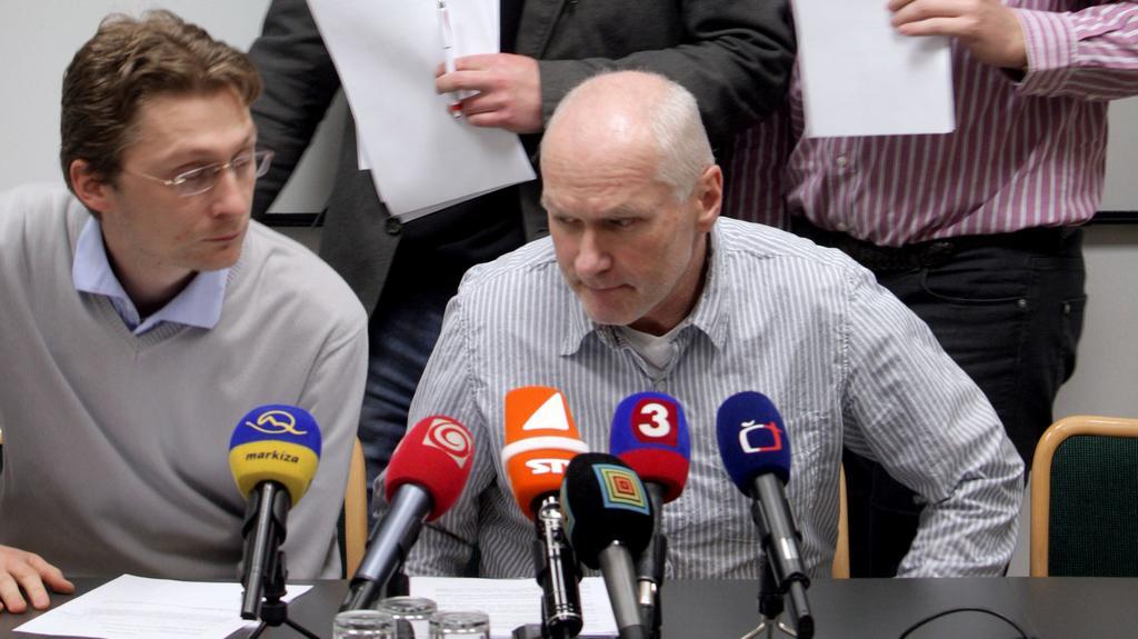 Šéf LOZ Peter Visolajský a předseda lékařské komory Marián Kollár (archivní foto)