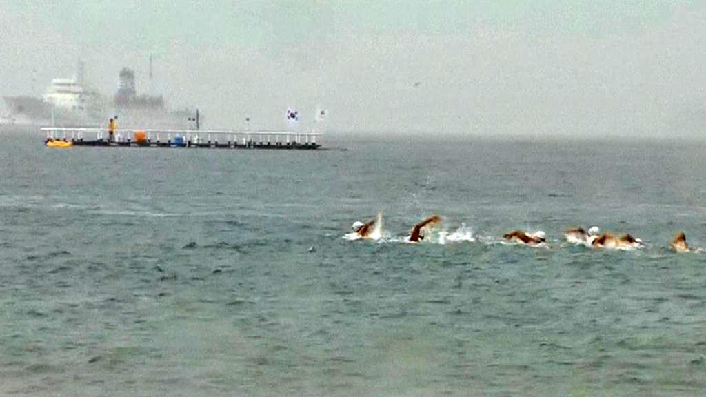 Jihokorejští plavci cestou na ostrov Tokdo