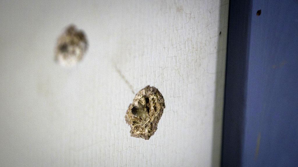 Stopy po kulkách na ostrově Utöya