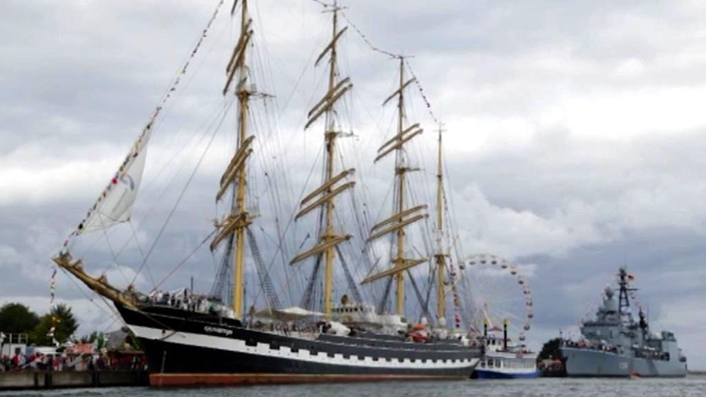 Sraz historických lodí v Rostocku