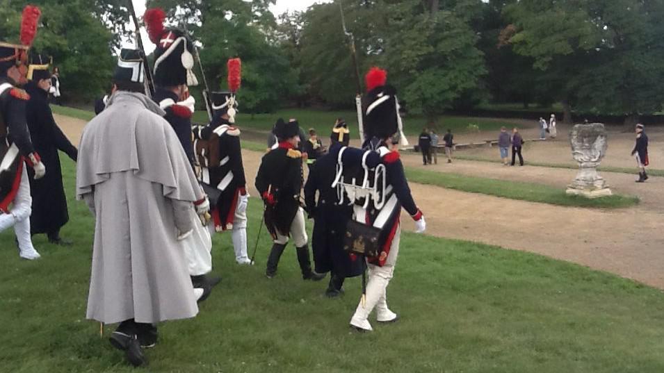 Dopoledne cvičili vojáci na bitvu