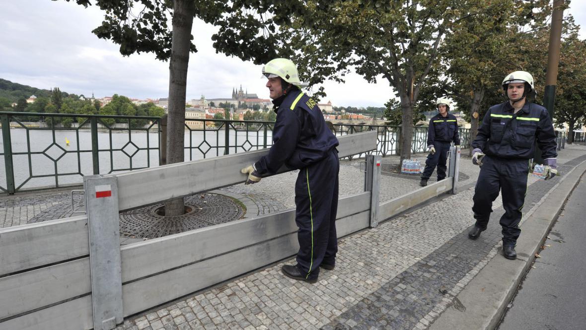 Protipovodňové cvičení v Praze