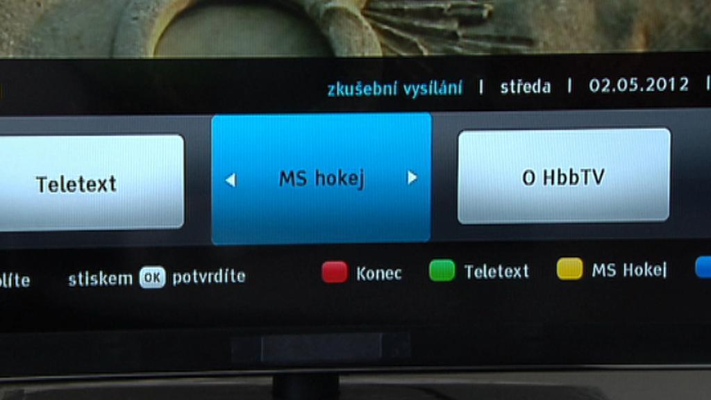 Úvodní nabídka HbbTV
