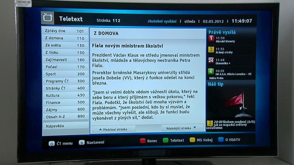HbbTV České televize