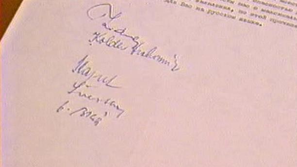 Podpisy na tzv. zvacím dopise