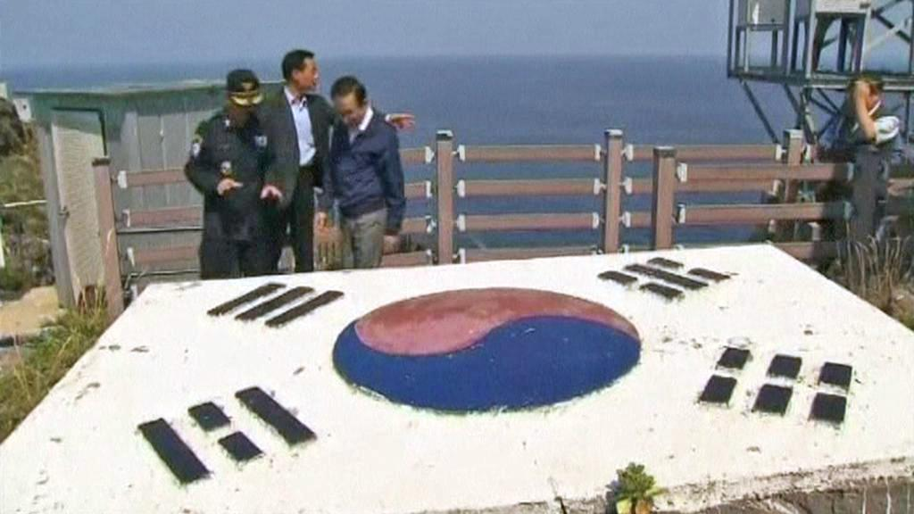 I Mjong-bak na ostrovech Tokdo (Takešima)