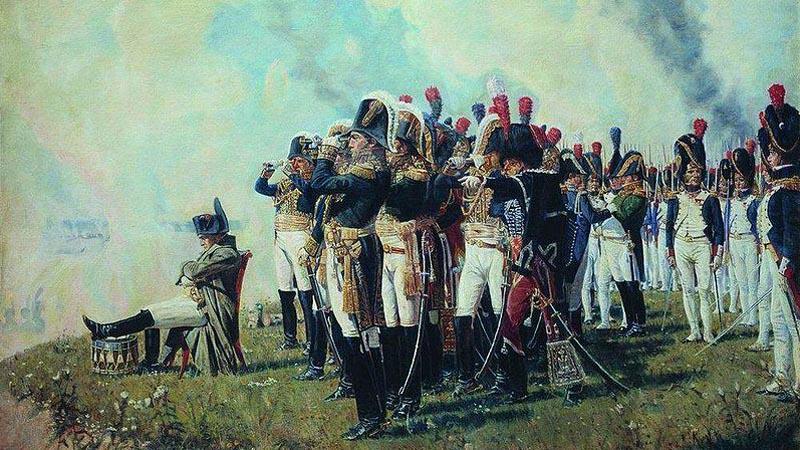 Napoleon při bitvě u Borodina