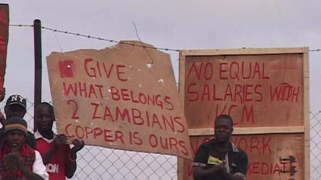 Protestující Zambijci