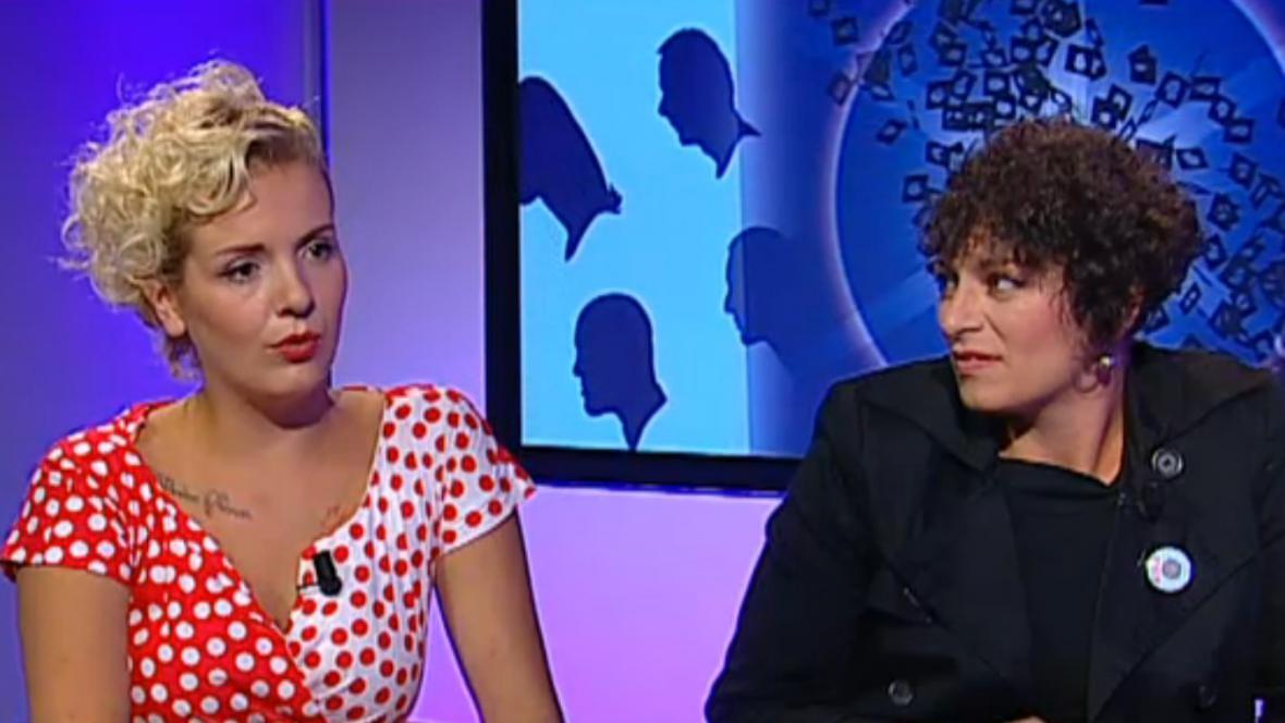 Zakladatelka dětského centra Divoké matky Barbora Zikmundovská a Mariana Dočekalová z dětského klubu Kruhžítko