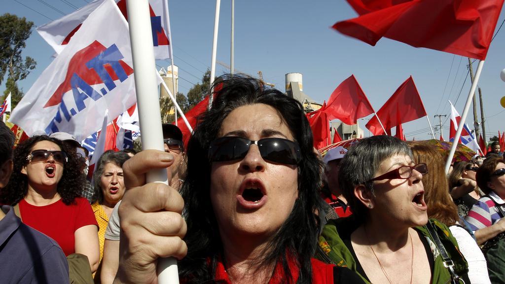 Prvomájové protesty v Řecku