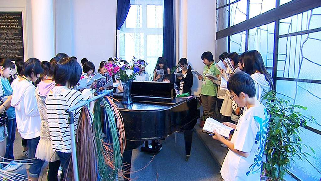 Japonské děti v Olivově léčebně