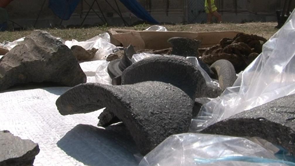 Průzkum odhalil zbytky středověké keramiky