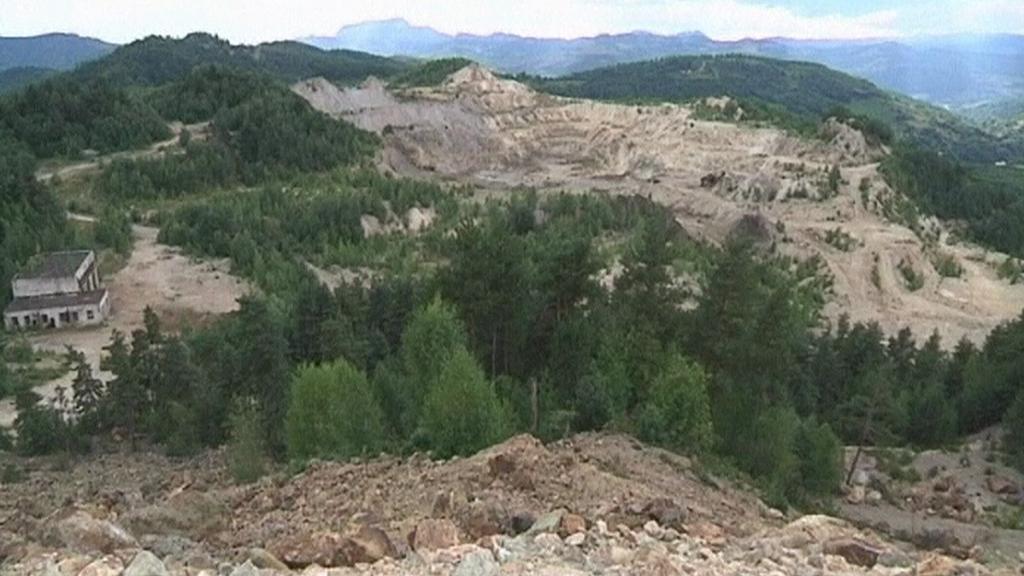Těžební údolí v Rumunsku