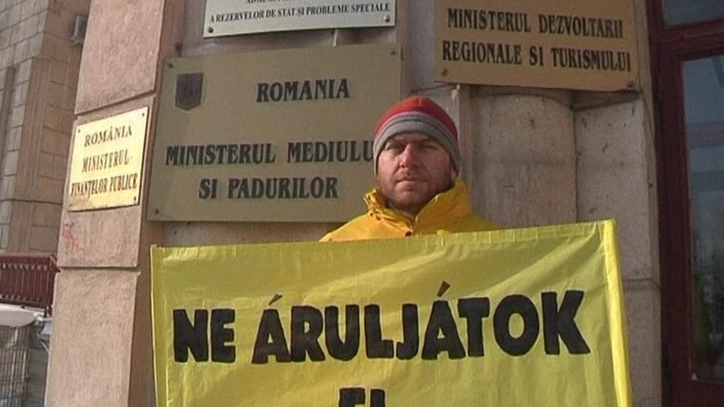 Aktivisté brojí proti těžbě zlata v Rumunsku