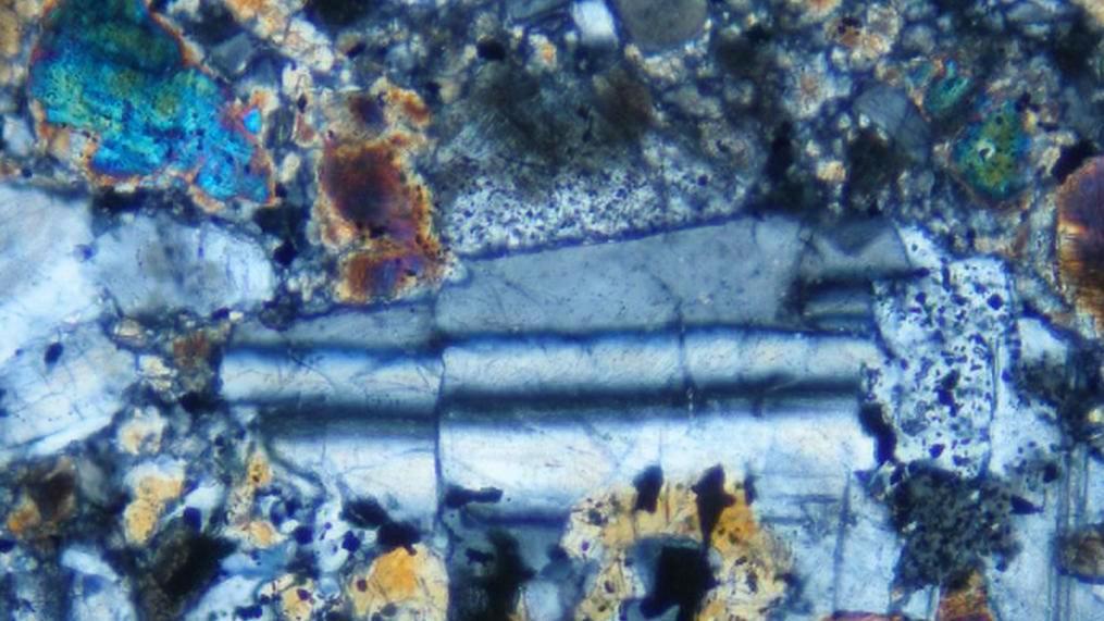 Výbrus Stonařovského meteoritu