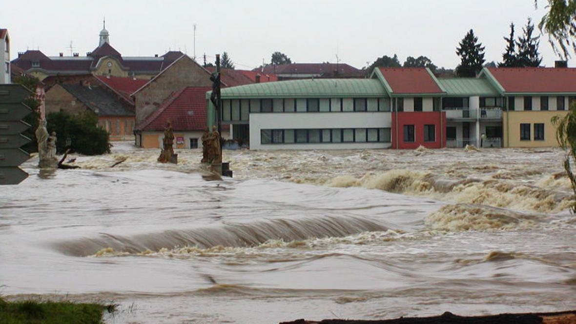 Záplavy na jihu Čech v roce 2002 - Písek