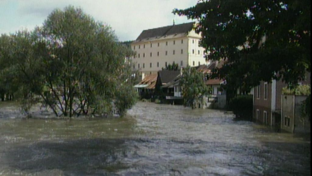 Povodně 2002 - Český Krumlov