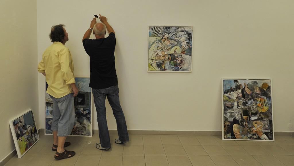 Příprava výstavy Interama 012 v olomoucké Galerii G
