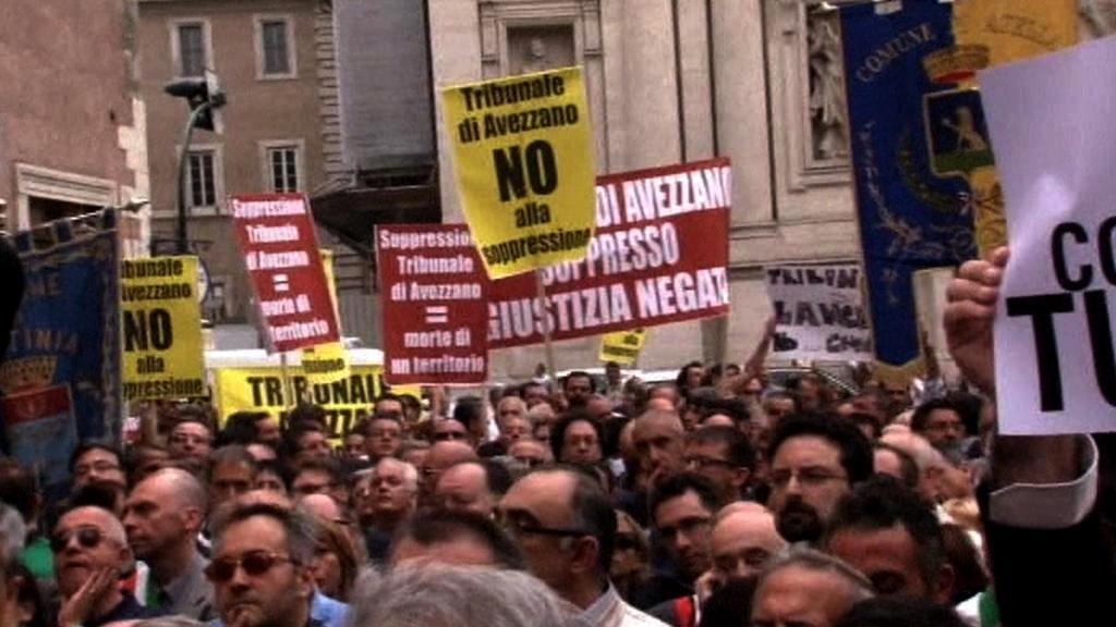 Protesty v Římě