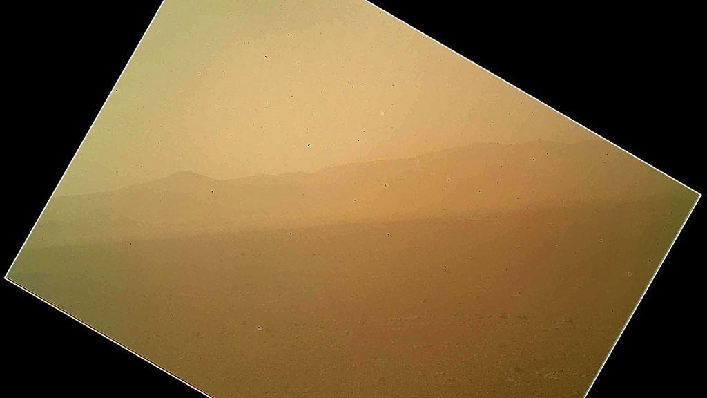 Barevný snímek z Marsu