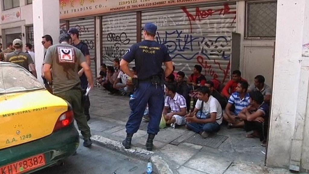 Ilegální přistěhovalci v Řecku