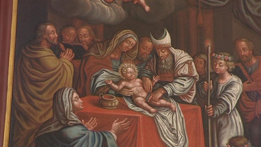 Jeden z vystavených obrazů