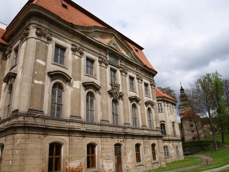 Plasy - část areálu kláštera