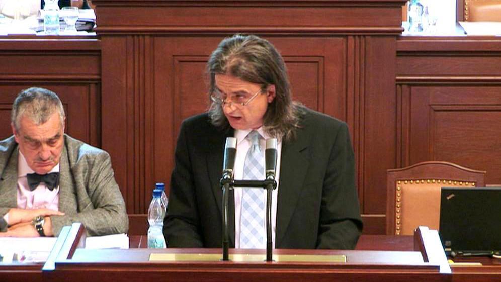 Otto Chaloupka ve sněmovně