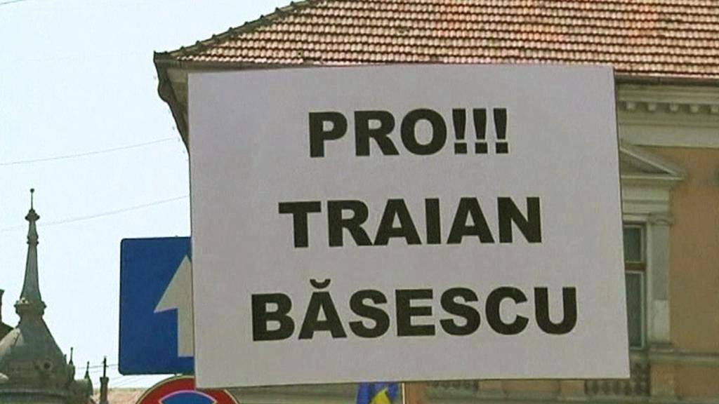 Demonstrace na podporu Traiana Basesca
