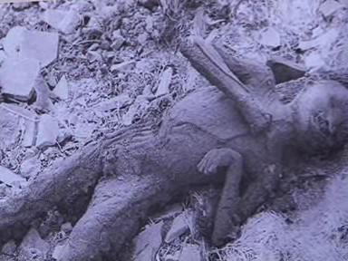 Ohořené tělo po výbuchu