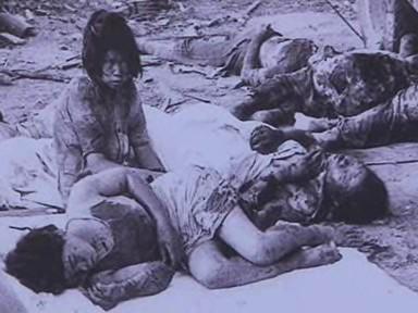 Utrpění lidí po výbuchu bomb