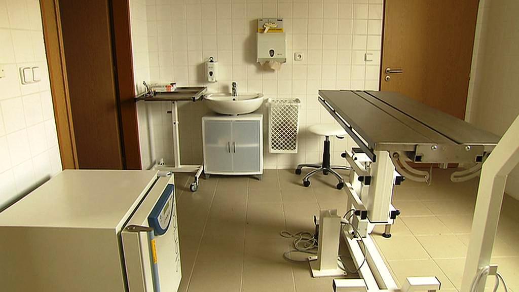 Operační sál záchranné stanice v Hrachově