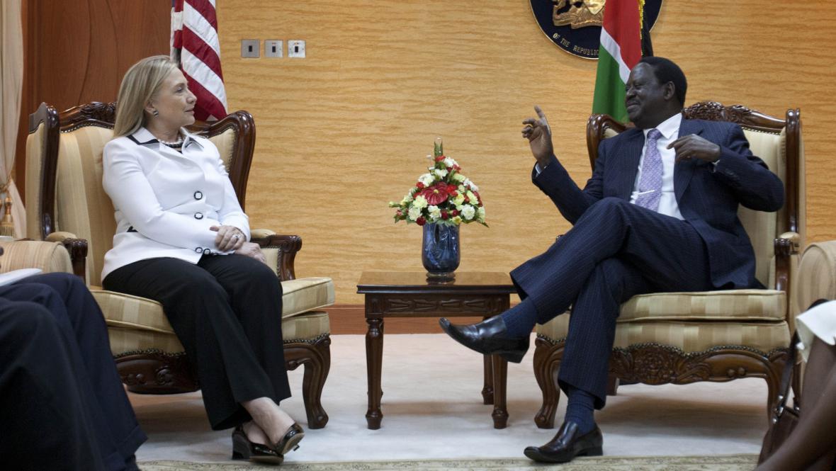 Clintonová na návštěvě Keni