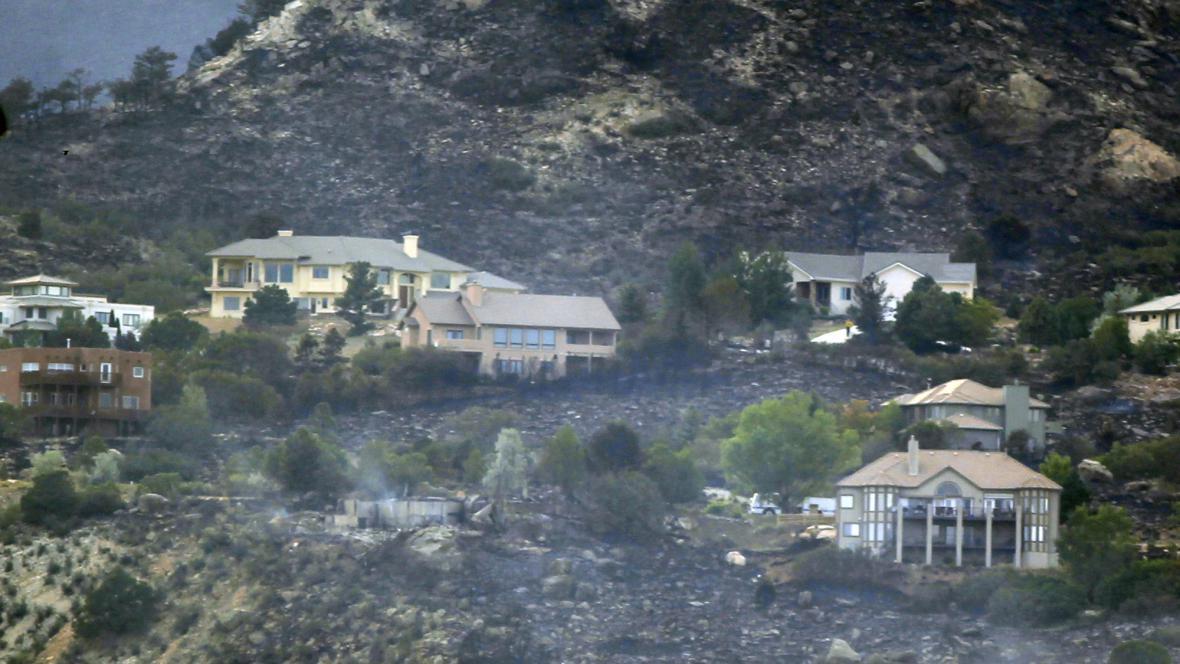 Následky požáru v Coloradu