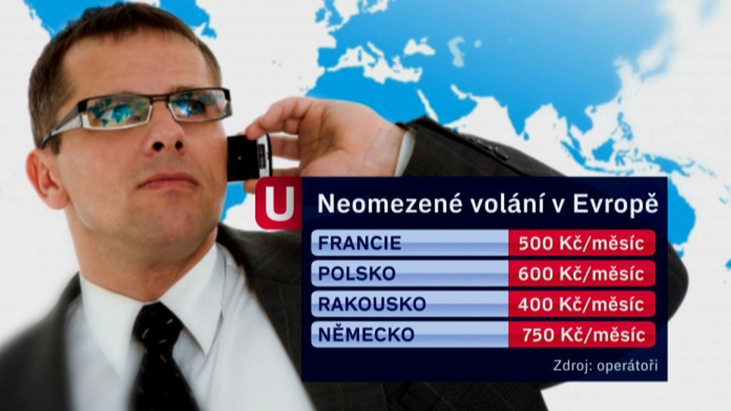 Ceny volání v zahraničí