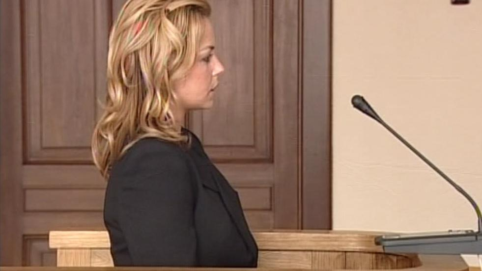 Barbora Hošnová před soudem