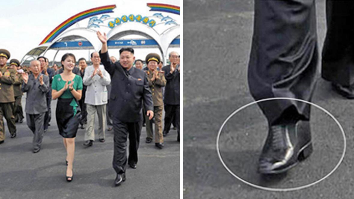 Kim Čong-un si pomocí podpatků přidává na výšce