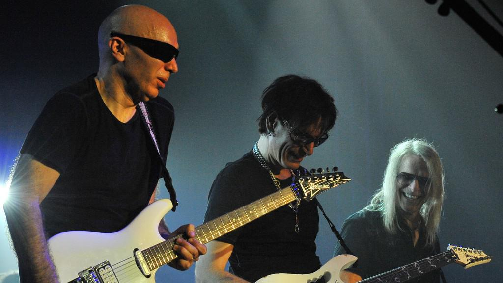 Joe Satriani, Steve Vai a Steve Morse