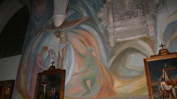 Freska v kostele v polském Chojnówě