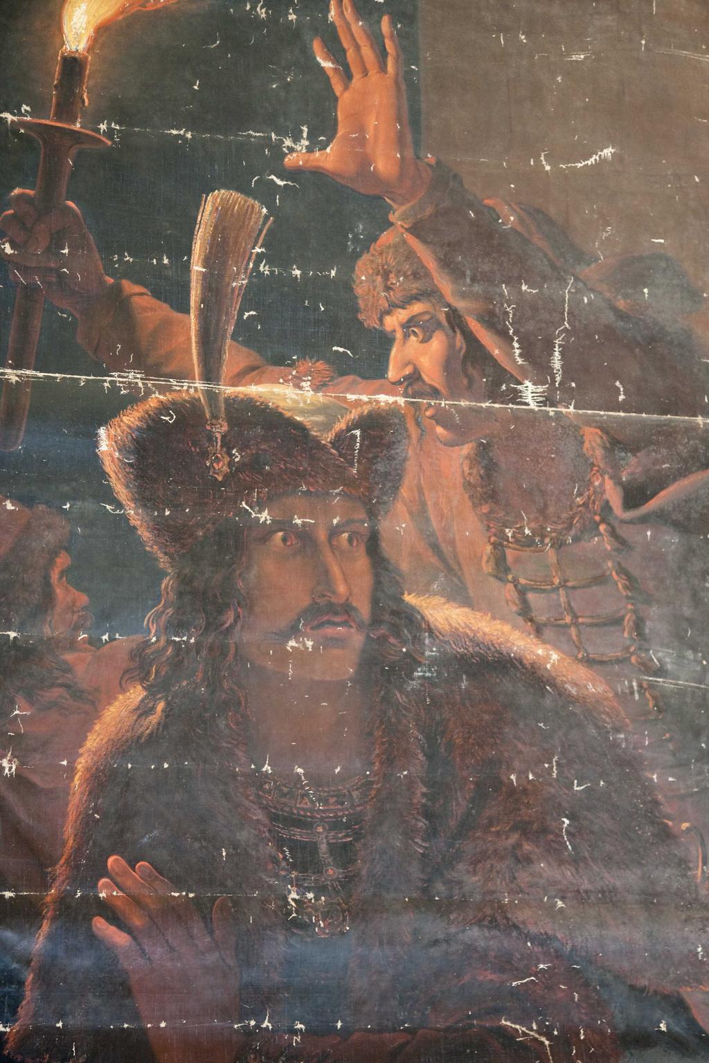 Zavraždění sv. Václava na obraze Antona Pettera (1844)