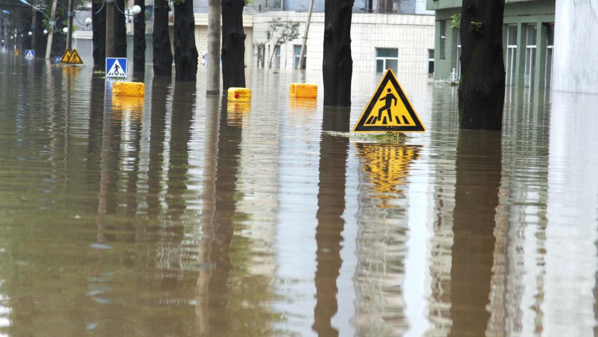 Záplavy v Severní Koreji