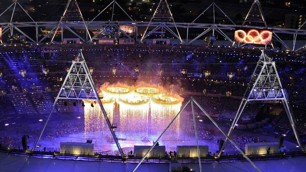 Panorama Olympijského stadionu během zahájení her