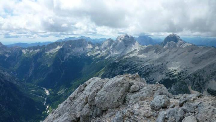 Pohled z vrcholu Prisojnik