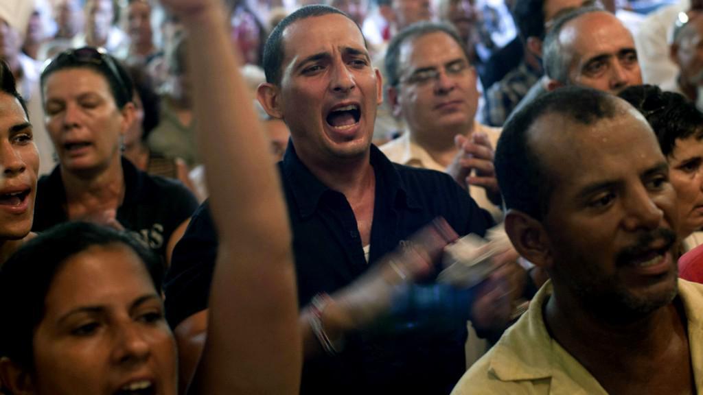 Pohřeb kubánského disidenta