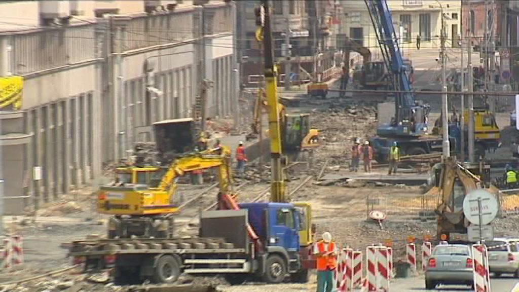 Výstavba tramvajových zastávek