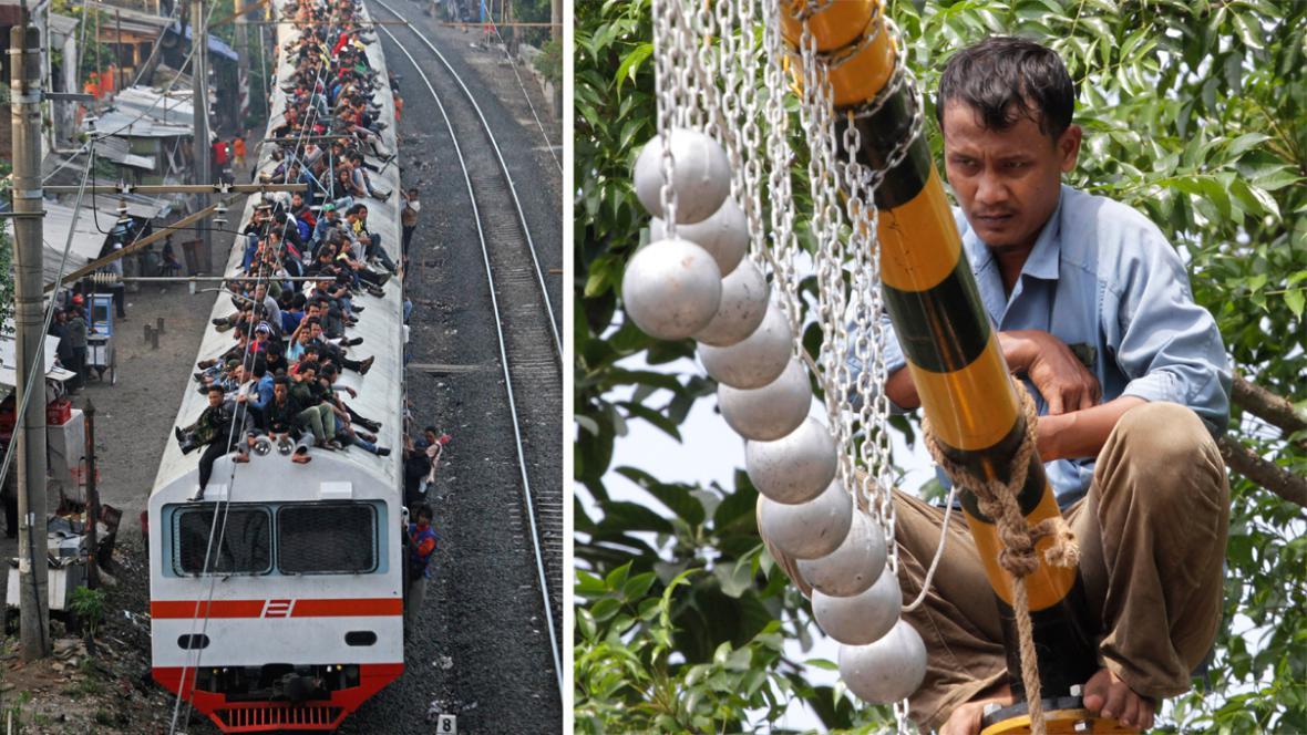 Betonové koule mají zabránit cestování na střechách vlaků