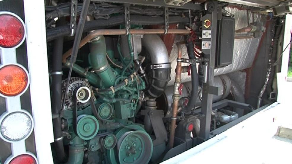 Motorová jednotka hybridního autobusu