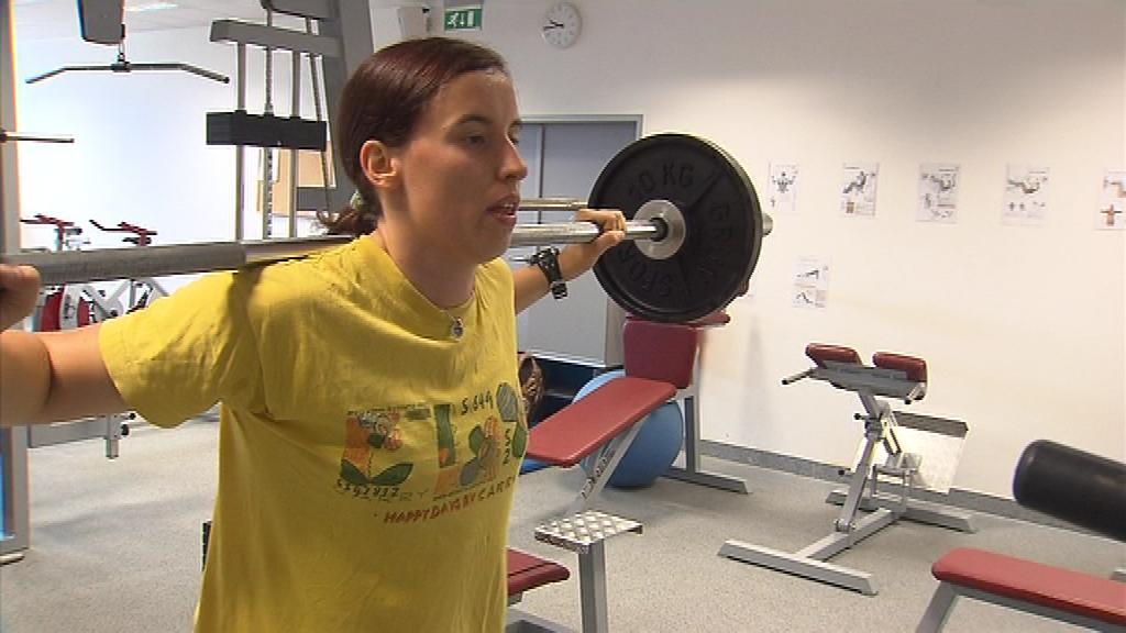 Kromě tréninku na kole tráví Romana Labounková hodiny i v posilovně